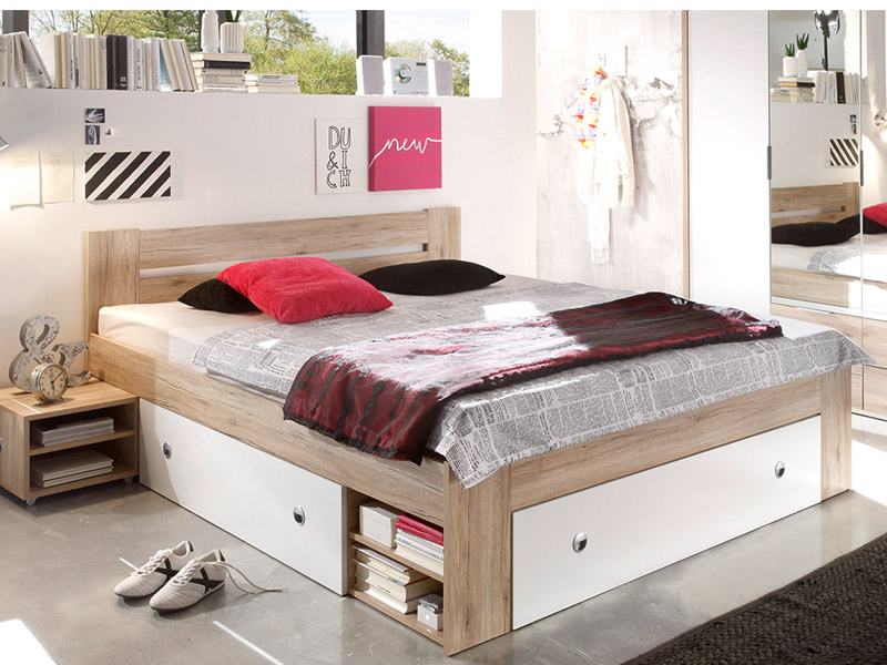 bett zum hochklappen doppelbett garda mit bettkasten. Black Bedroom Furniture Sets. Home Design Ideas